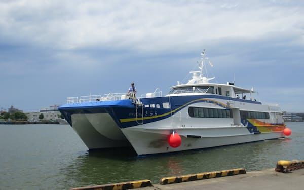 高速船「きらら」を運休期間中に貸し出し、新たな収益源にする
