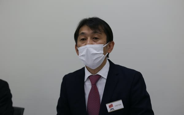 ユミルリンクの清水亘社長(22日、東証)