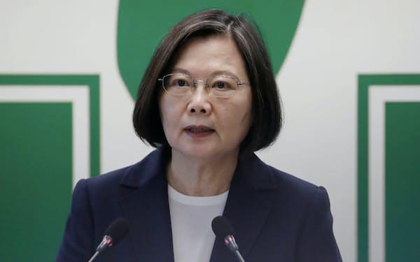 台湾当局は23日午前、記者会見を開きTPP加盟に向け正式に申請を行ったことを発表した=ロイター