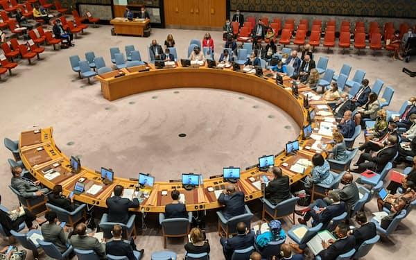国連安保理は気候変動の安全保障への影響について議論した(23日、ニューヨーク)