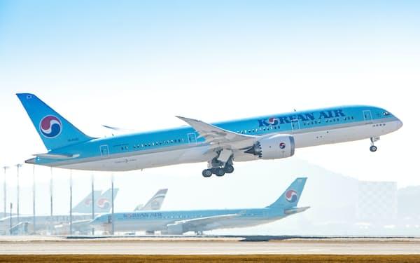 大韓航空の機体