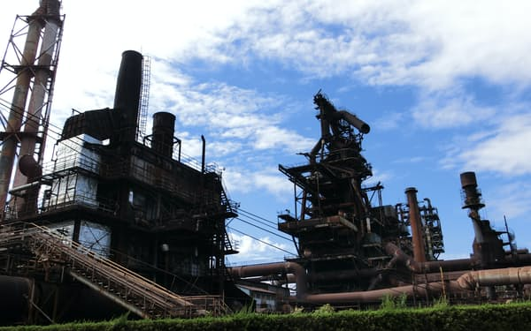 高炉の火が消える日本製鉄の瀬戸内製鉄所呉地区(広島県呉市)