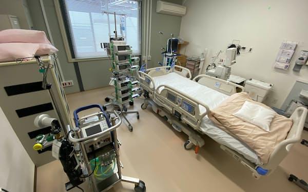 第5波でコロナ病床の確保は難航した(神戸市立医療センター中央市民病院)