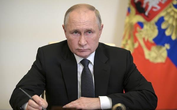 2024年の次期大統領選に向け、内政の安定を確保したロシアのプーチン大統領=AP