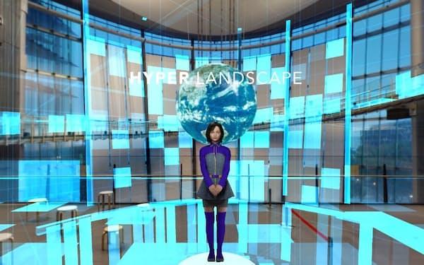 KDDIは遅延の少ない5Gを活用して、CGで再現したキャラクターがリアルタイムで反応する技術を展開している