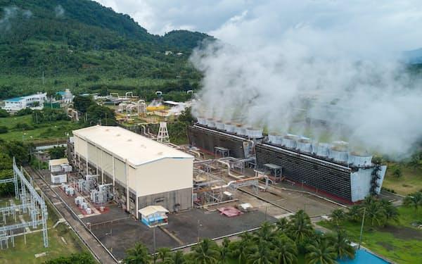アボイティスの地熱発電所