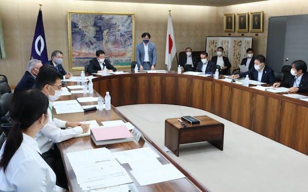 前橋市はスーパーシティ実現に向けて準備組織を改組した(27日、同市)