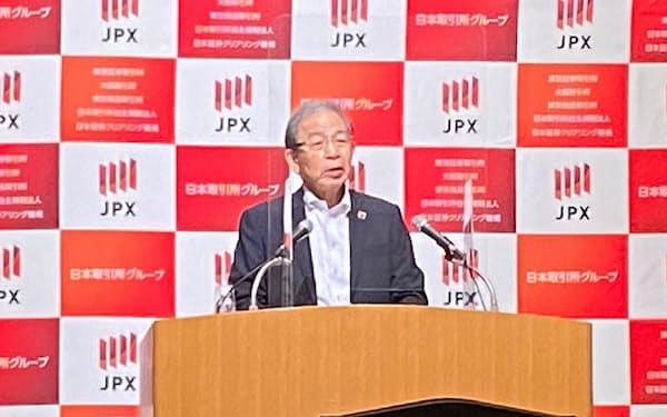 日本取引所グループの清田CEOはSPACのあり方を検討する研究会を立ち上げることも発表した(27日、東証)