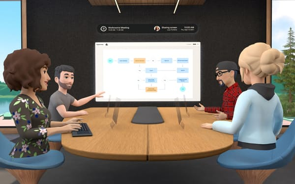 「ホライゾン・ワークルーム」はオフィスの業務環境をVRで作り上げる試みだ=ロイター
