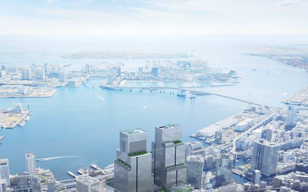 街区全体でCO2排出量を実質ゼロにする(開発のイメージ)