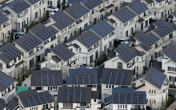 太陽光パネルを配した住宅(神奈川県藤沢市のFujisawaサスティナブル・スマートタウン)