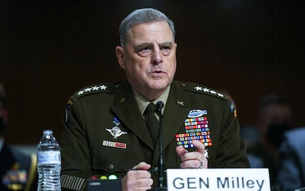 28日、米軍のミリー統合参謀本部議長はアルカイダの再結集に警鐘を鳴らした(ワシントン)=AP