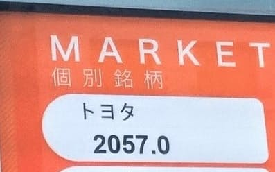 分割を加味した株価を示す名古屋証券取引所の表示(29日)