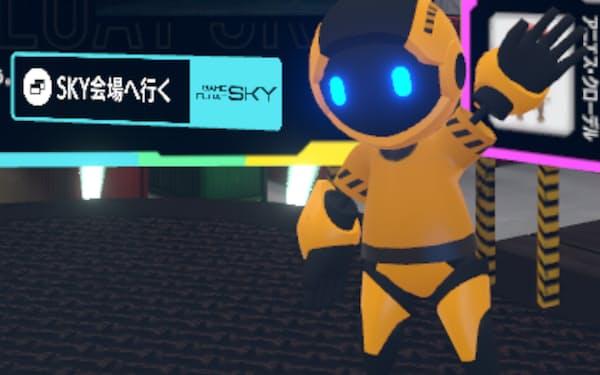 VR空間上でアバターの衣装を購入できる