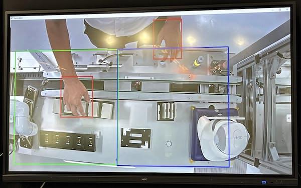 画面上であらかじめ設定した枠に入ると、稼働と判断して自動で記録する