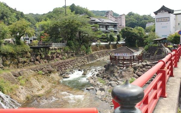 三島信金は観光地の多い伊豆地域を営業区域とする(伊豆市の修善寺温泉)