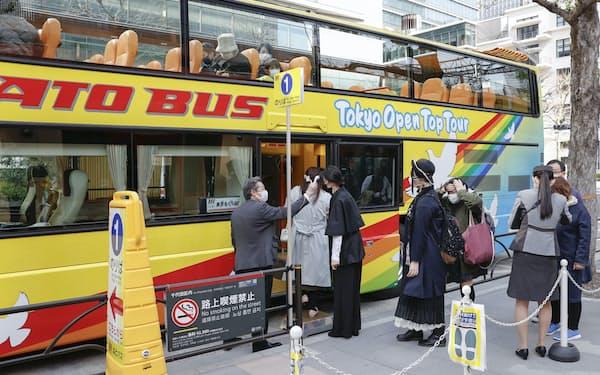 はとバスは宣言解除を受けて中止していた一部ツアーを再開する