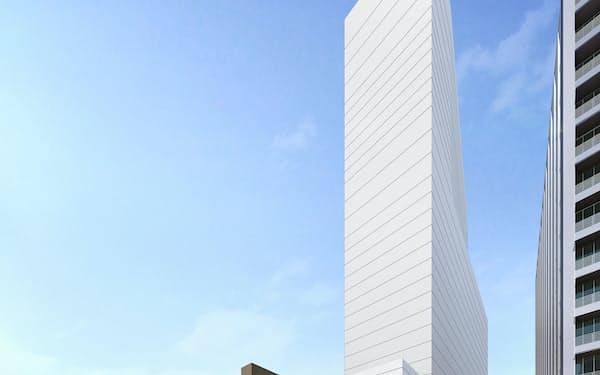 広島市中心部に高層ビルが建設される(完成イメージ)