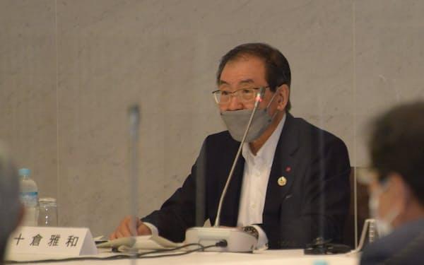 経団連の夏季フォーラムに出席する十倉雅和会長