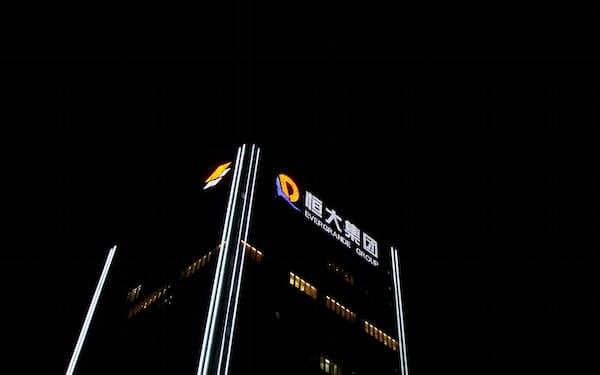中国恒大集団は再び米ドル債の利払いを見送った(中国恒大集団本社、9月29日)=ロイター