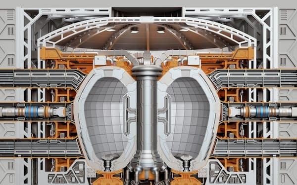 京都フュージョニアリングは核融合炉の主要部品の生産を手がける(核融合炉の断面イメージ)