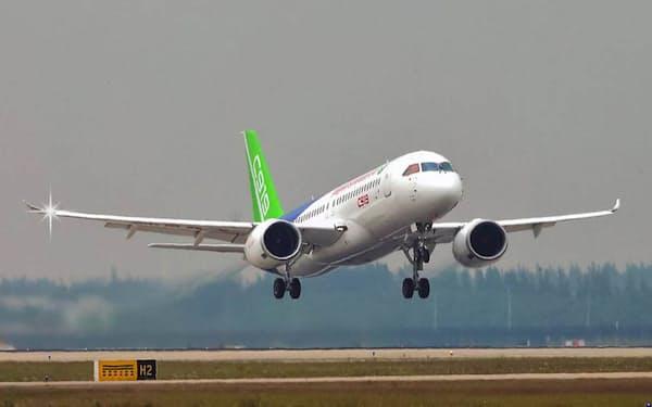 中国商用飛機(COMAC)の国産旅客機「C919」(同社ウェブサイトより)