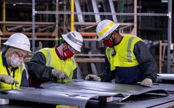 トヨタとマツダが共同出資したアラバマ州の新工場(トヨタ自動車提供)