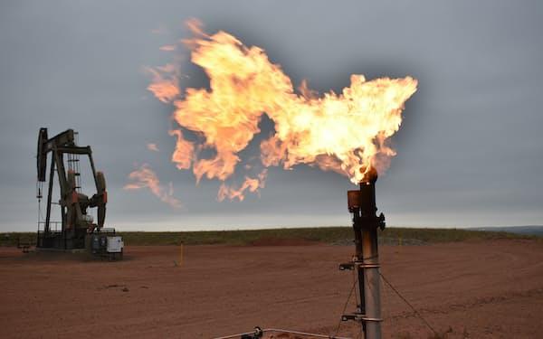 天然ガスの価格が急騰している=AP