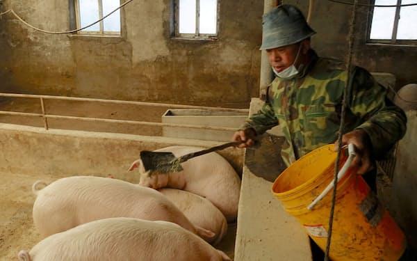 中国の豚肉価格は下落した