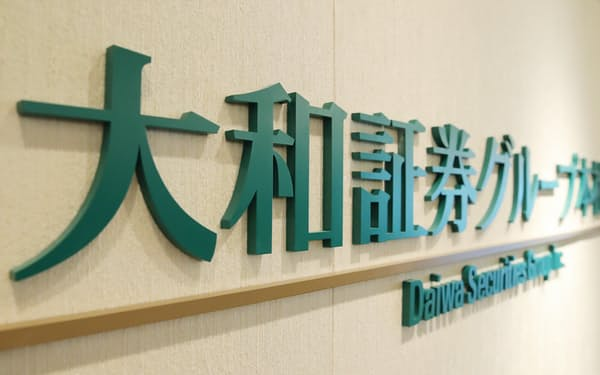大和証券グループ本社の看板