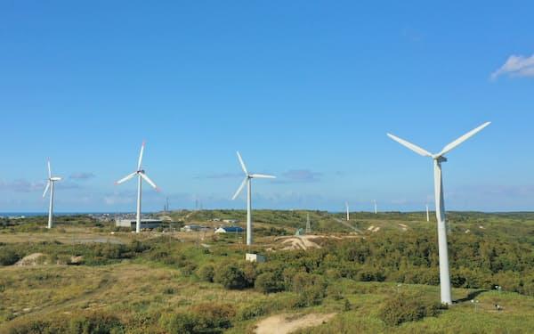 北ガスは再生エネ発電の活用に力を入れる(写真は同社の稚内風力発電所)