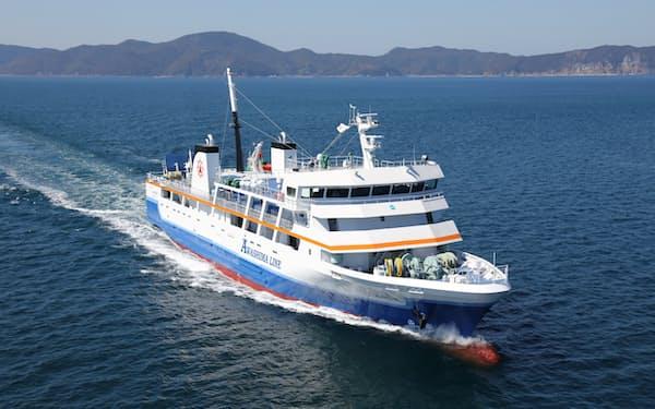 粟島汽船の岩船港発の乗船券を申込時に提示する