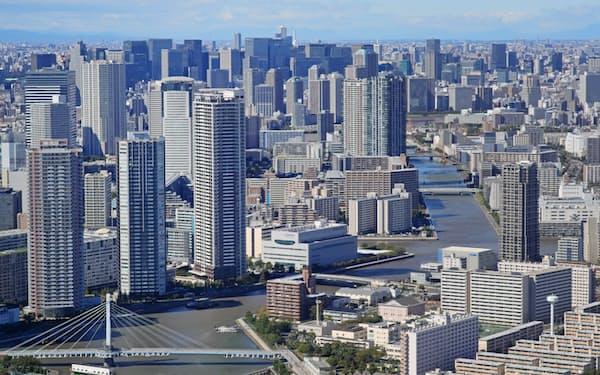 東京都心のビル