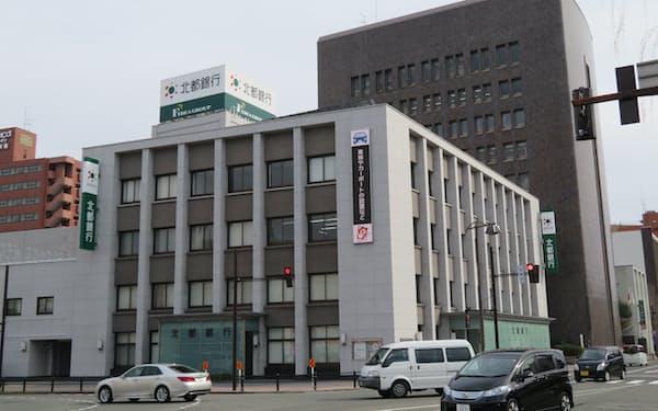 秋田市にある北都銀行の本店