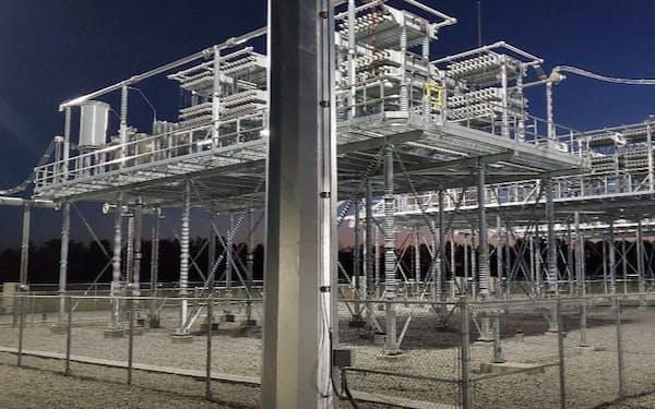 日立はエネルギー制御など環境関連の知財を多く持つ(長距離送電向けの設備)