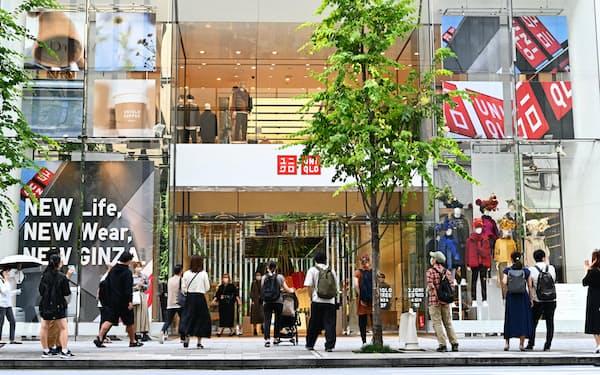 9月は旗艦店「ユニクロ銀座店」がリニューアルした(東京都中央区)