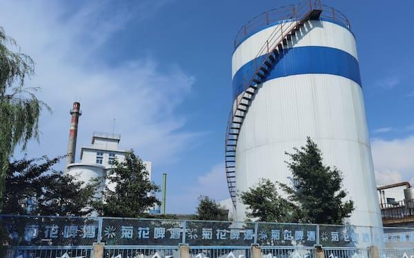 華潤ビールが生産を停止した工場(8月、遼寧省葫芦島市)