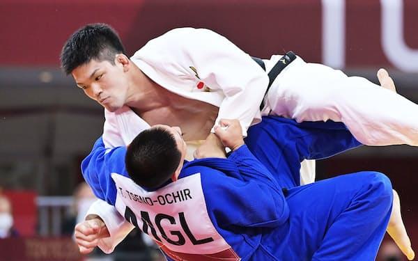 モンゴル選手を破り、決勝進出を決めた大野将平