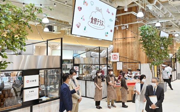 食のイベントを開催する1階の「食祭テラス」(6日午前、大阪市北区の阪神梅田本店)
