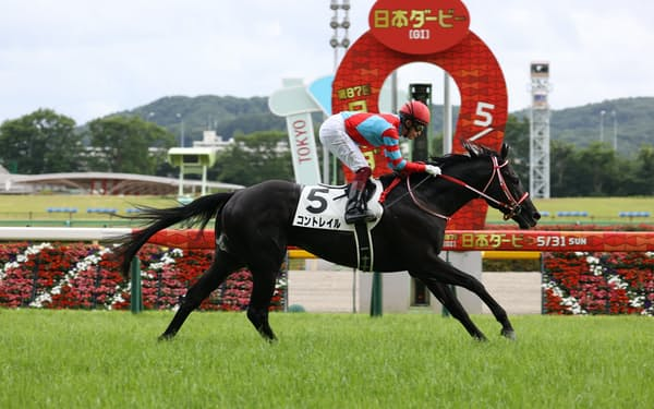コントレイルは9月の阪神デビューでクラシック三冠を制覇=JRA提供