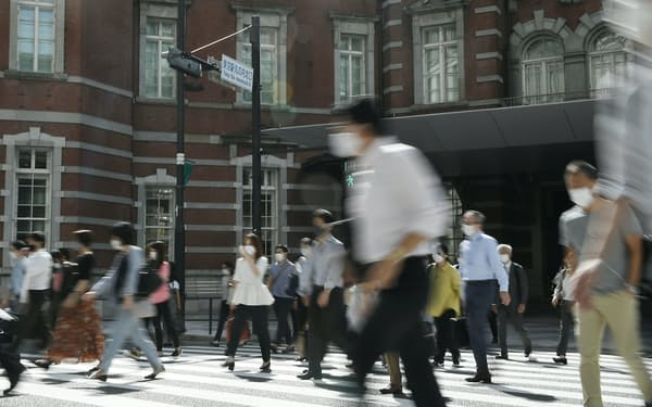 感染経路が業務によることが明らかな場合、労災保険の対象になる(2021年9月撮影)