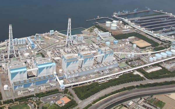 JERAがアンモニア混焼を実証する碧南火力発電所(同社提供)