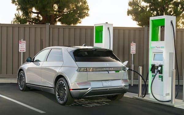 現代自動車の800V対応電気自動車「アイオニック5」(出所:現代自動車)