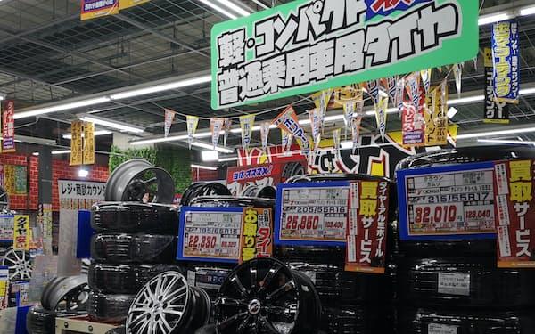 コロナ禍中にあって交換用タイヤの販売は堅調