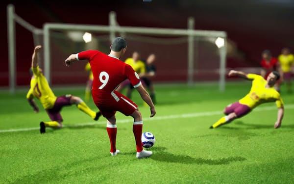ホークアイで得た選手の動作、骨格データを活用して、プレーをCG映像として再現できる