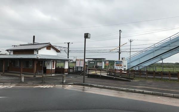 亀山市がリニア新駅の候補地のA案として示した井田川駅周辺