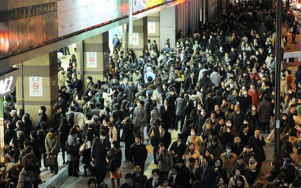 東日本大震災の教訓を思い出したい(2011年3月11日、新宿駅)