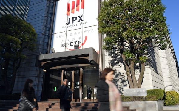 東京証券取引所(東京都中央区)