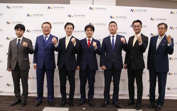 M&A仲介会社大手5社が自主規制団体を設立した(7日、東京都千代田区)