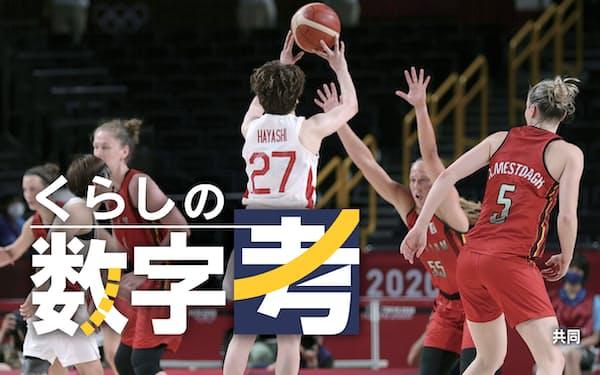 日本―ベルギー 第4クオーター、日本は試合終了間際に逆転の3点シュートを決める